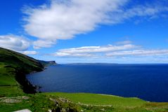 Litorale dell'Antrim in Irlanda del Nord, testa dei torr Fotografia Stock