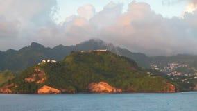 Litorale dell'isola tropicale Clare Valley, Saint-Vincent e granatine stock footage