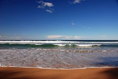 Litorale dell'oceano Immagini Stock