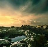 Litorale dell'oceano Fotografia Stock Libera da Diritti