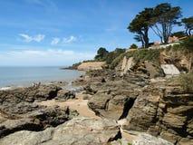 Litorale dell'oceano con le rocce Immagine Stock