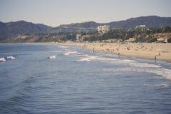 Litorale dell'oceano di Pacitic a Santa Monica Fotografia Stock Libera da Diritti