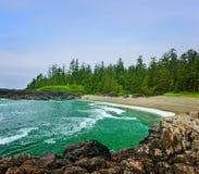 Litorale dell'Oceano Pacifico nel Canada immagini stock