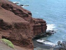 Litorale della lava Fotografia Stock