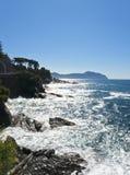 Litorale della Liguria Fotografia Stock