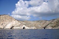 Litorale della Zacinto, isola ionica Immagini Stock Libere da Diritti