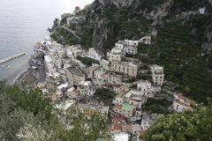 Litorale di Amalfi da sopra immagini stock
