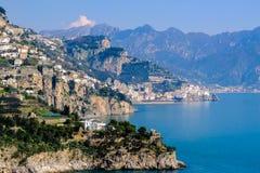 Litorale di Amalfi, Italia Fotografie Stock Libere da Diritti