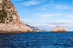 Litorale di Amalfi, Italia del sud Fotografia Stock