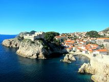 Litorale di Dubrovnik Fotografie Stock
