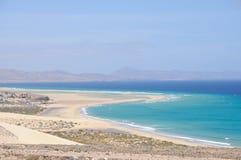 Litorale di Fuerteventura Fotografia Stock