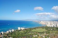 Litorale di Honolulu Fotografia Stock Libera da Diritti