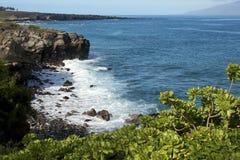 Litorale di Kapalua su Maui Immagini Stock Libere da Diritti