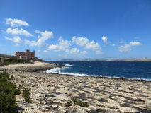 Litorale di Malta Fotografia Stock