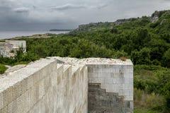 Litorale di Mar Nero Banca Lithoidal, Bulgaria Fotografia Stock