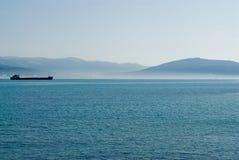 Litorale di mare in inverno. Fotografia Stock Libera da Diritti