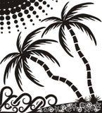 Litorale di mare tropicale Immagini Stock Libere da Diritti