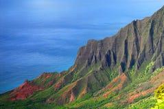 Litorale di Napali di Kauai Hawai Immagine Stock Libera da Diritti