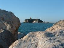 Litorale di Napoli, isola di S.Martins Fotografia Stock Libera da Diritti