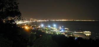 Litorale di notte fotografia stock