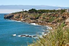 Litorale di Oceano Atlantico, Cascais, Portogallo Fotografia Stock