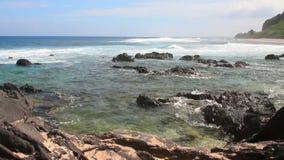 Litorale di Oceano Indiano riunione stock footage