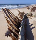 Litorale di scheletro - naufragio - il Namibia Immagini Stock Libere da Diritti