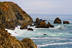 Litorale di Sonoma, baia California di Bodega fotografia stock libera da diritti