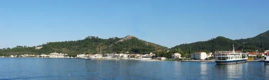 Litorale di Thassos, Grecia Fotografia Stock