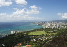 Litorale di Waikiki Fotografia Stock Libera da Diritti