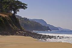 Litorale e spiaggia dell'Oceano Pacifico Fotografia Stock Libera da Diritti