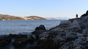 Litorale egeo stock footage