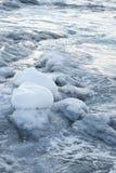 Litorale ghiacciato dell'Antartide. Fotografia Stock Libera da Diritti