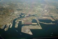 Litorale industriale di Long Beach Immagine Stock