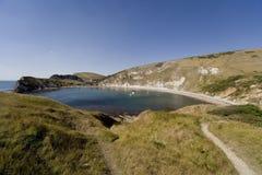 Litorale Inghilterra del Dorset della baia di Lulworth immagini stock libere da diritti