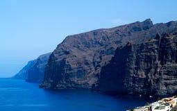 Litorale Los Gigantes di Tenerife Fotografia Stock