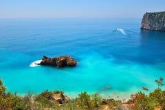 Litorale mediterraneo splendido Fotografia Stock Libera da Diritti