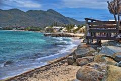 Litorale nell'isola di Maarten del san Fotografia Stock