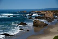 Litorale nordico della California Fotografie Stock