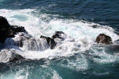 Litorale roccioso dell'Hawai Immagine Stock Libera da Diritti