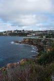 Litorale roccioso della spiaggia di Coogee Immagine Stock
