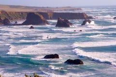 Litorale scenico della California Fotografie Stock