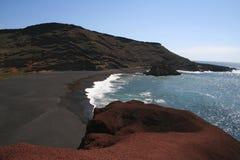 Litorale selvaggio, Lanzarote, Spagna Fotografia Stock
