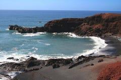 Litorale selvaggio, Lanzarote, Spagna Immagini Stock Libere da Diritti