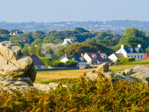 Litorale sull'isola di Guernsey Fotografia Stock