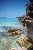 Litorale tropicale Fotografia Stock Libera da Diritti