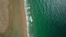 Litorale tropicale da aria stock footage
