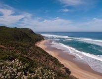 Litorale vicino a 12 apostoli in Australia Fotografie Stock Libere da Diritti
