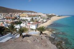 Litorale vicino a Morro Jable, Fuerteventura Fotografia Stock Libera da Diritti