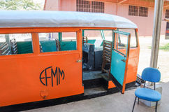 Litorina tour on Estrada de Ferro Madeira-Mamore railroad in Por Stock Photography